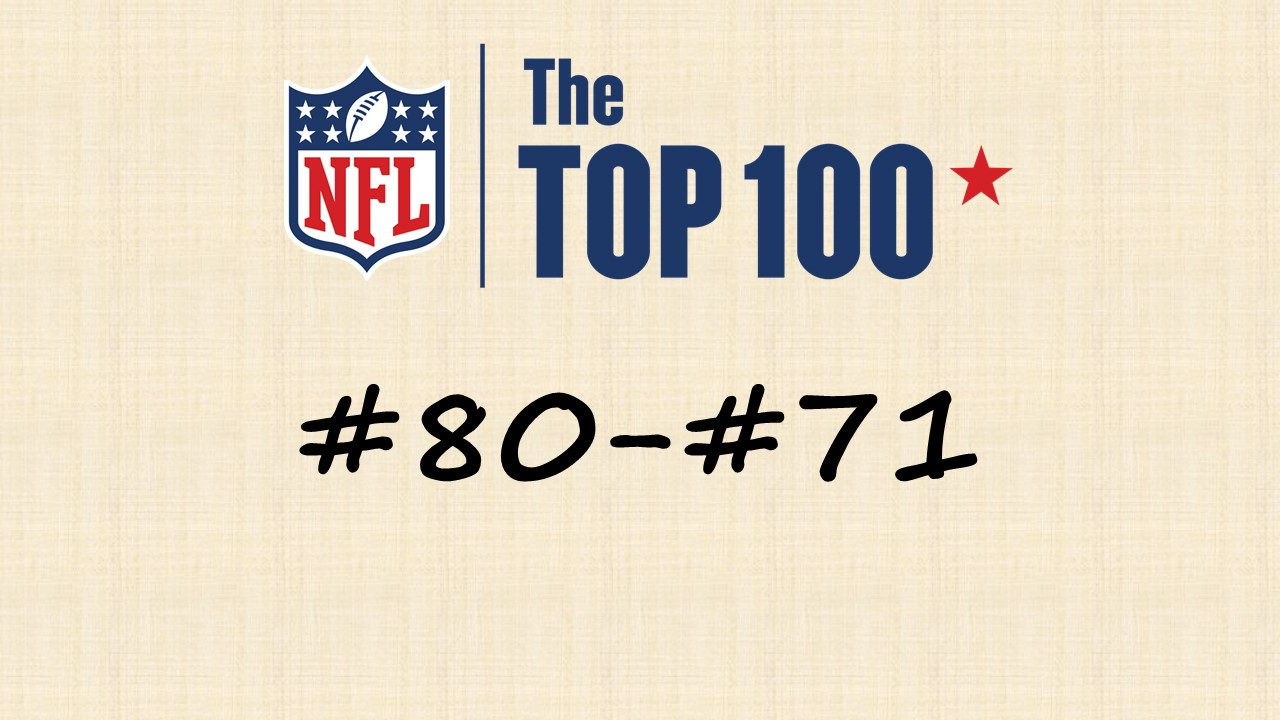【NFL Top100 in2020】選手達が決めるランキング100! 80位~71位