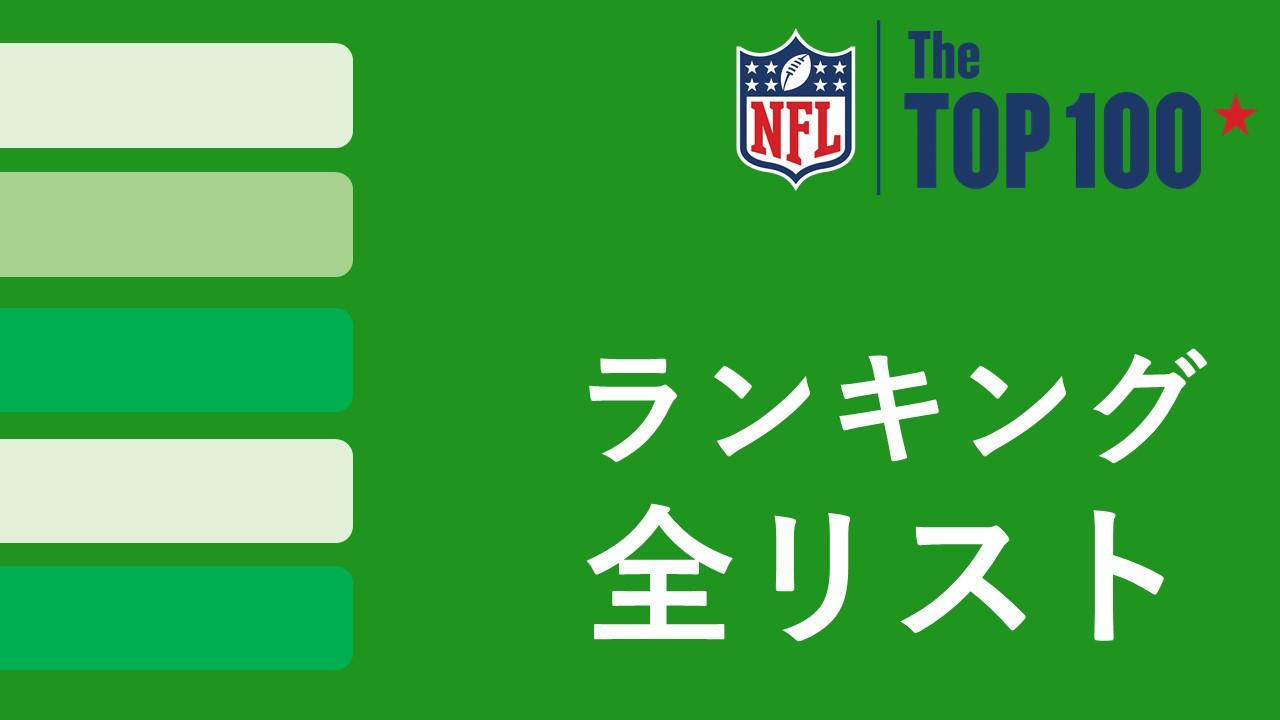 【NFL Top100】ランキング順位一覧|まとめ記事