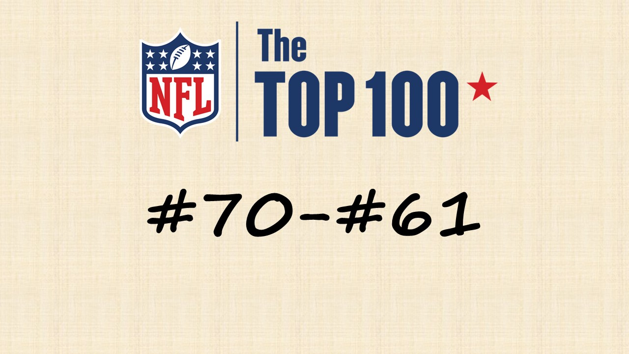 【NFL Top100 in2020】選手達が決めるランキング100! 70位~61位