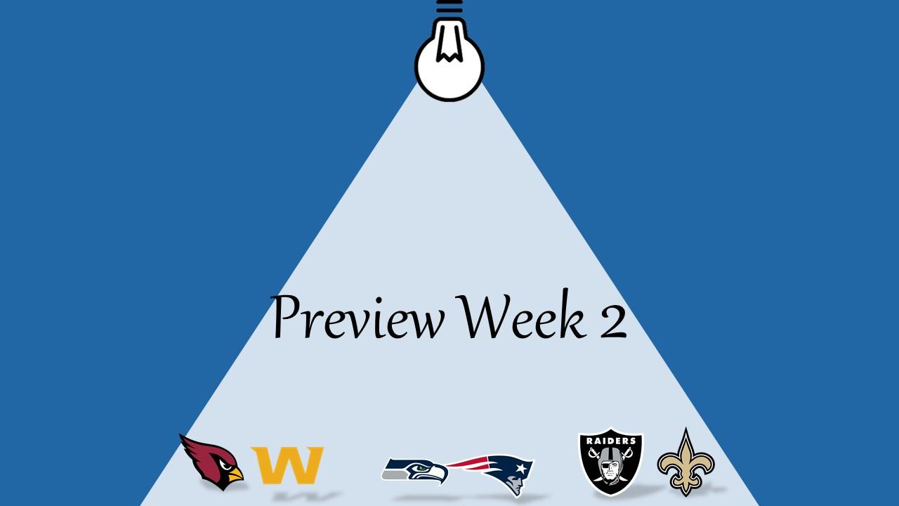 【プレビュー】Week2 注目の試合|ラスベガスにNFLがやって来る!