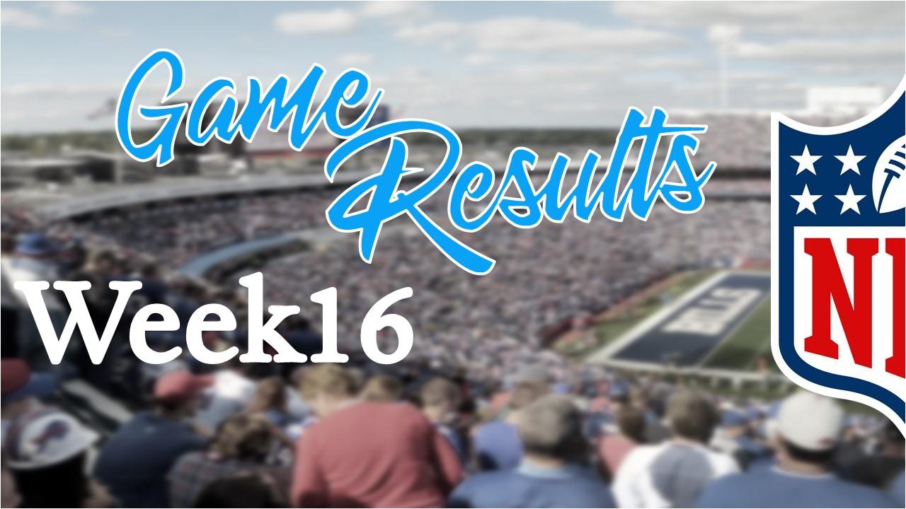 【試合結果】Week16振り返り|2020年最後のNFL!!