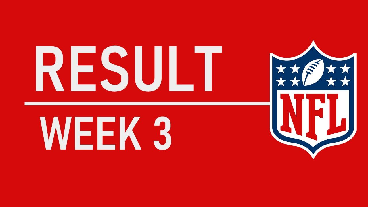 【試合結果】Week3振り返り NFL新記録が出た!!!